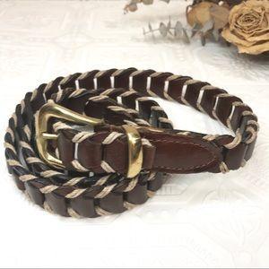 Lane Bryant Leather and Hemp Belt